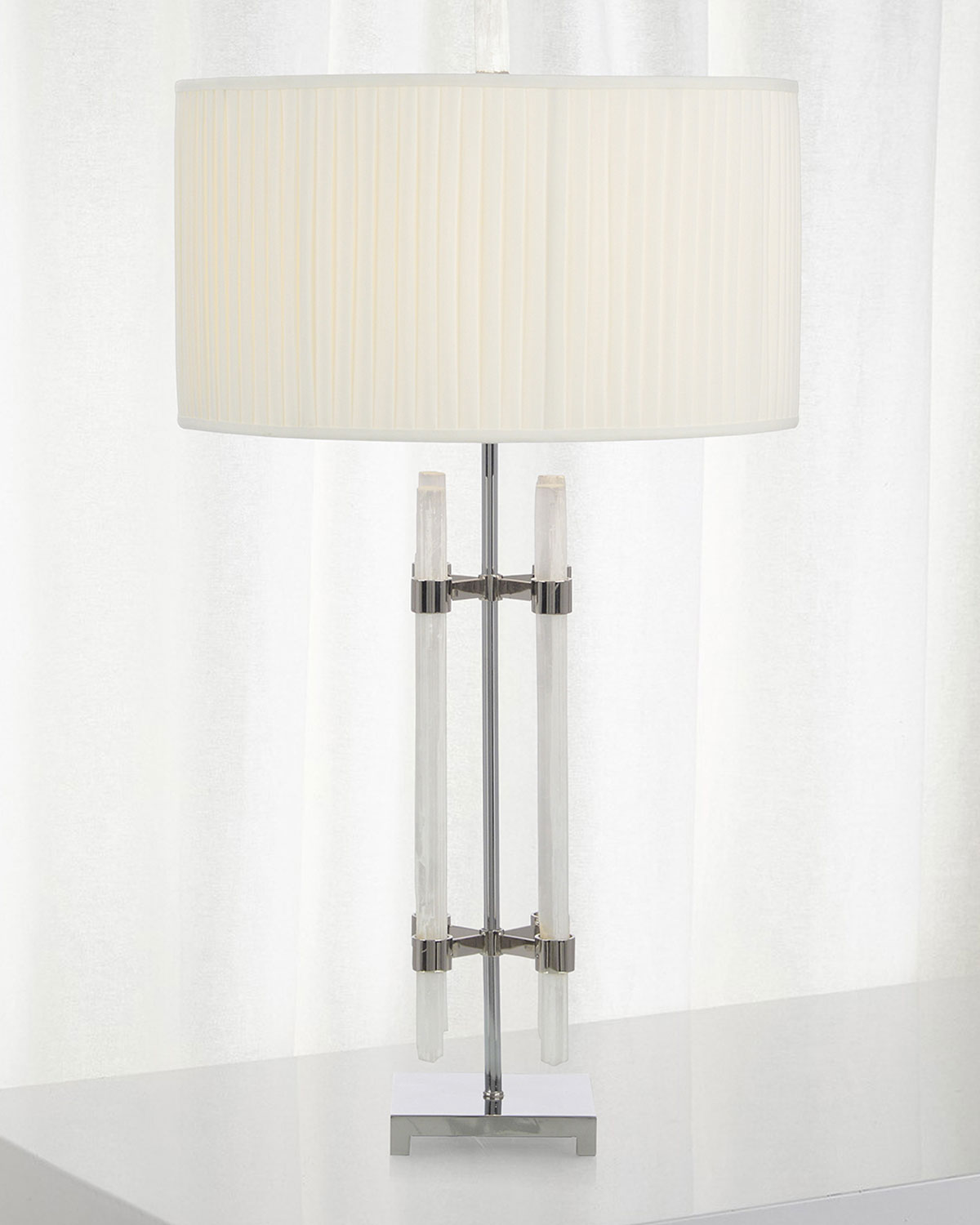 John-Richard Collection Selenite Tube Table Lamp