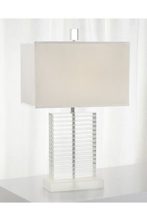 John-Richard Collection Glass Table Lamp with Frosted Etched Accents