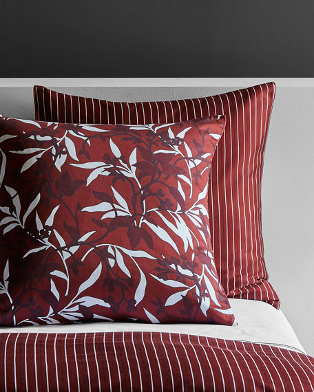 Frette at Home Chinoiserie Bordeaux Euro Sham