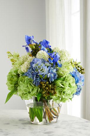 NDI Iris & Hydrangea Floral Arrangement