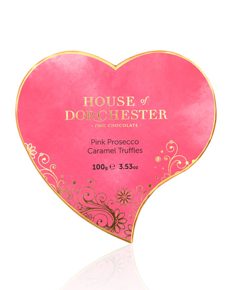 House of Dorchester 8-Piece Pink Prosecco Heart Box
