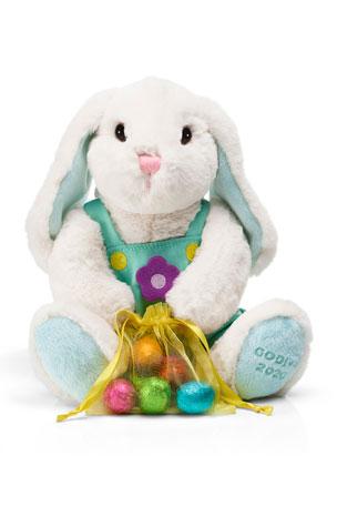 Godiva Chocolatier Plush Bunny with Chocolate Foil Eggs