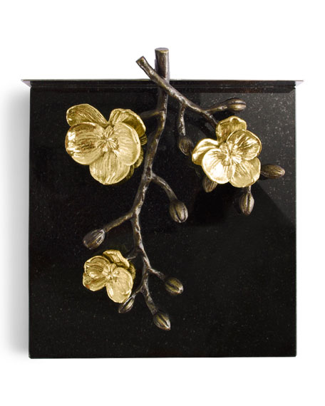 Image 2 of 2: Gold Orchid Dinner Napkin Holder