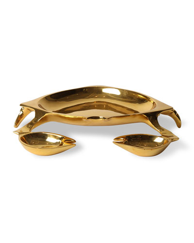Brass Crab Bowl