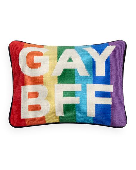 Jonathan Adler Needlepoint Personality Gay BFF Pillow