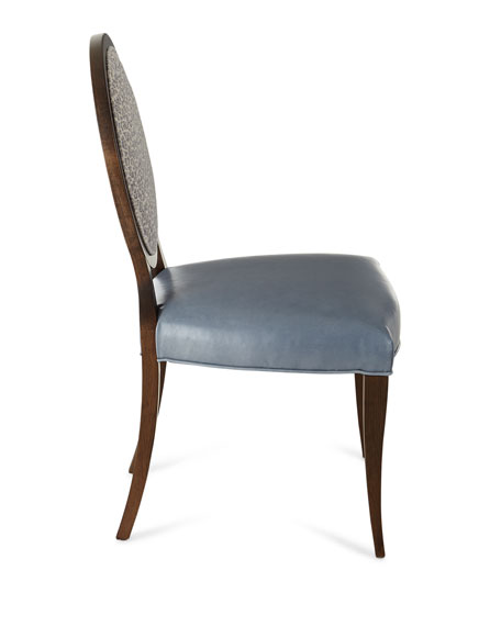 Massoud Pearlington Leather Dining Side Chair