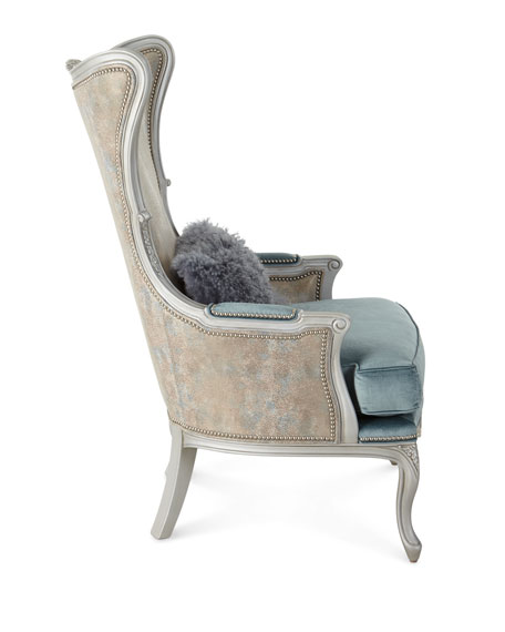 Massoud Livinia Leather Wing Chair