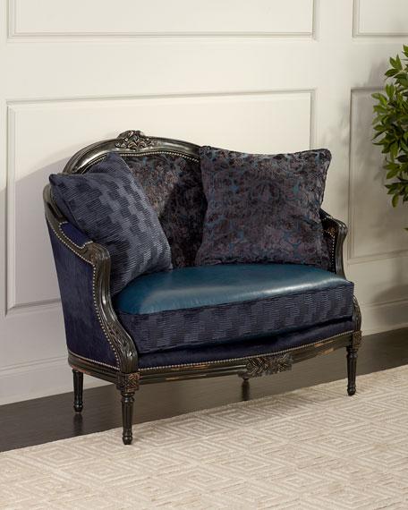 Massoud Oretta Leather Settee