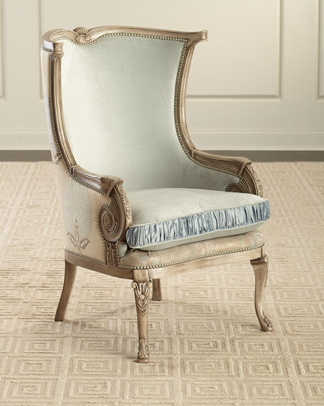 Massoud Calcasieu Wing Chair