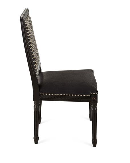 Massoud Maurepas Leather Dining Side Chair