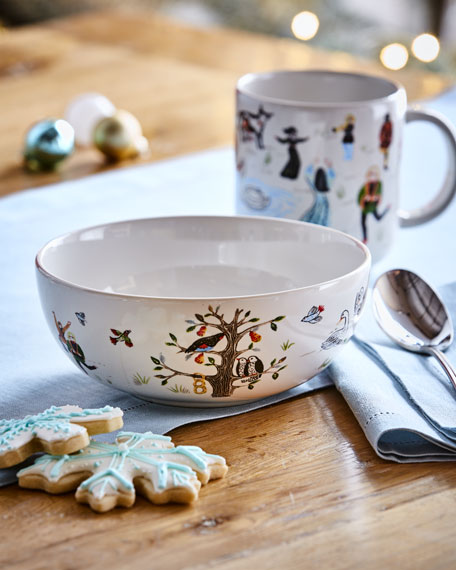 Image 1 of 3: Juliska Twelve Days of Christmas Cereal/Ice Cream Bowl