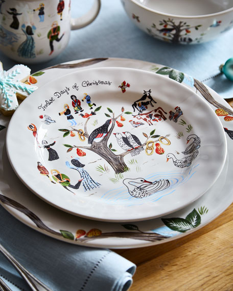 Image 1 of 3: Juliska Twelve Days of Christmas Dessert/Salad Plate
