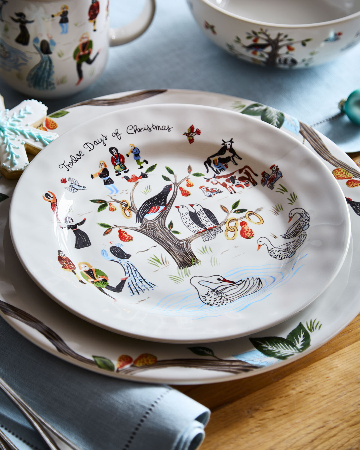 Juliska Twelve Days of Christmas Dessert/Salad Plate