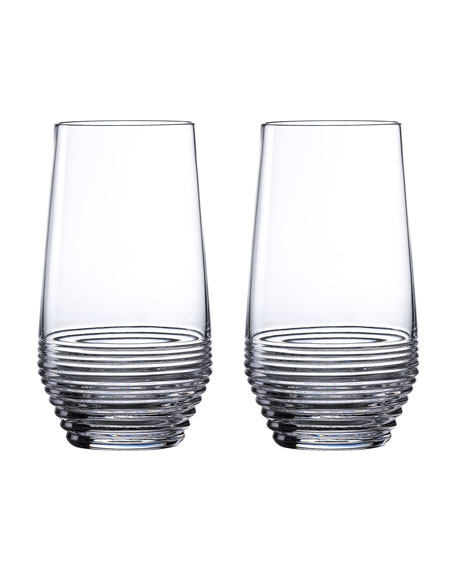 Image 1 of 2: Waterford Crystal Circon Highballs, Set of 2