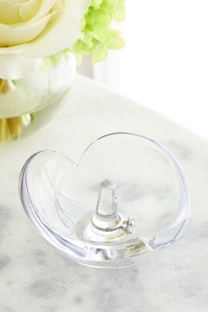 Nambe Heart Ring Holder Crystal