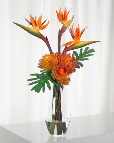 NDI Bird of Paradise in Glass Vase