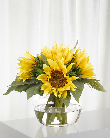 NDI Sunflowers in Glass Vase