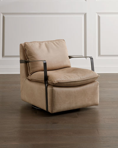 Bianca Leather Swivel Chair