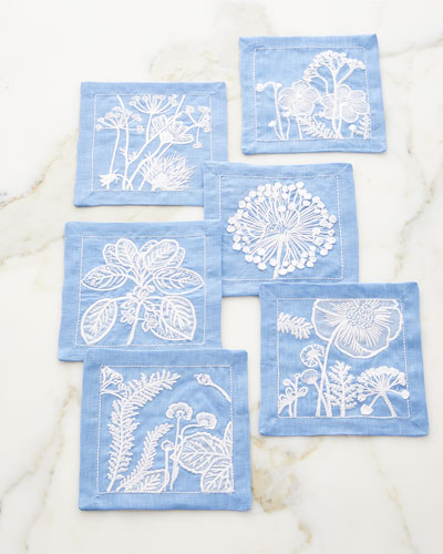 Sunprint Cocktail Napkins  Set of 6