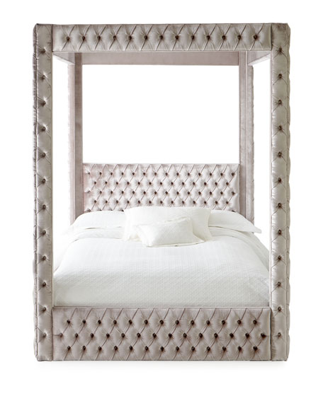 Haute House Astrid California King Canopy Bed