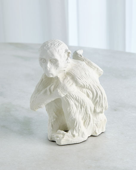 Image 1 of 2: William D Scott Monkey Sculpture