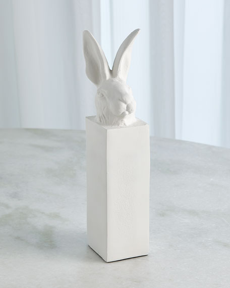 Image 1 of 2: William D Scott Rabbit Head Sculpture