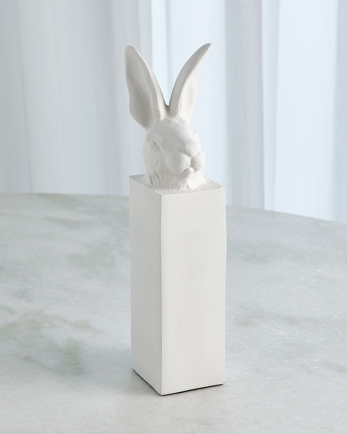 William D Scott Rabbit Head Sculpture