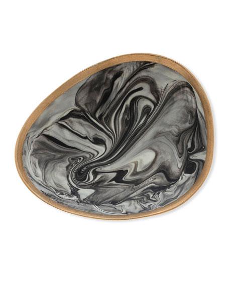 Joanna Buchanan Grey Marbleized Porcelain Ring Dish