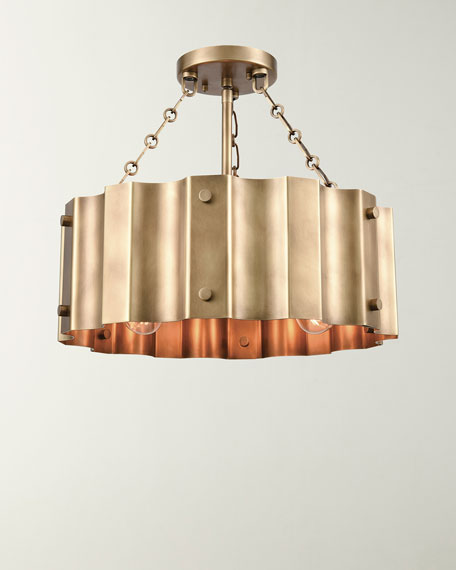 Clausten 3-Light Semi Flush