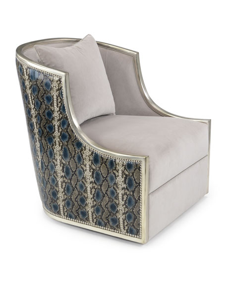 Image 2 of 2: John-Richard Collection Ticinese Swivel Chair