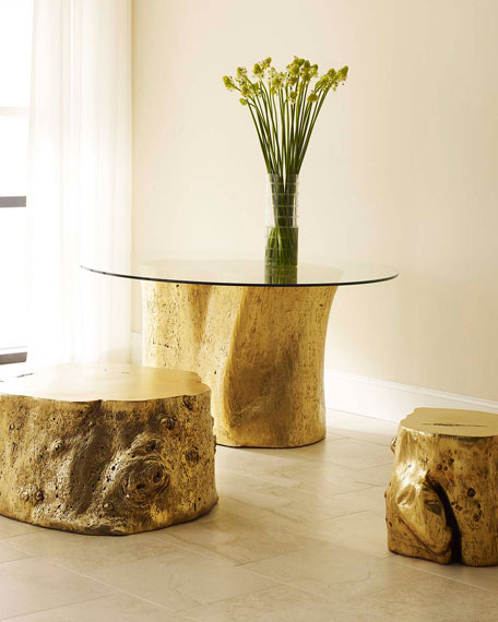 Image 1 of 3: The Phillips Collection Log Coffee Table
