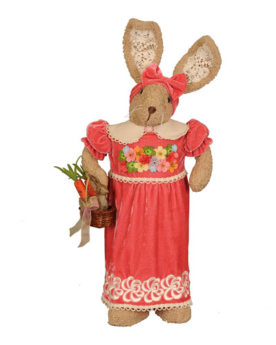 Mrs. Coral Bunny Decoration