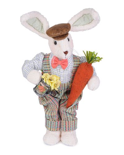 Carrot Boy Bunny Decor