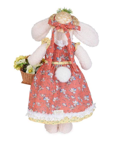 Karen Didion Originals Flower Basket Bunny Decor