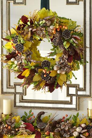 "Exclusive Autumn Harvest 28"" Wreath"