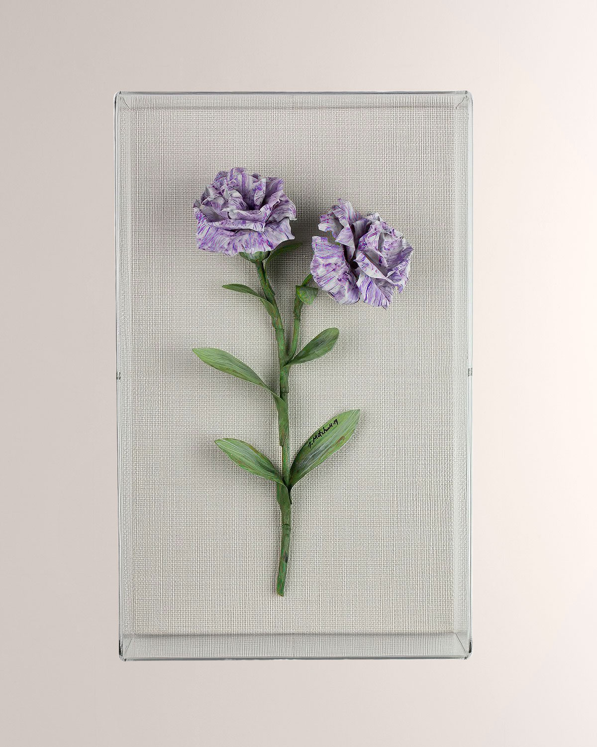 Charlotte Moss for Tommy Mitchell Carnation January Birth Flower Wall Art