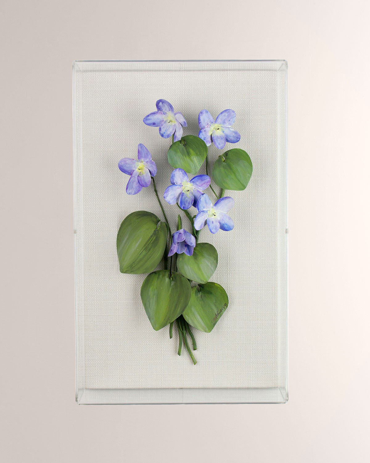 Charlotte Moss for Tommy Mitchell Violet February Birth Flower Wall Art