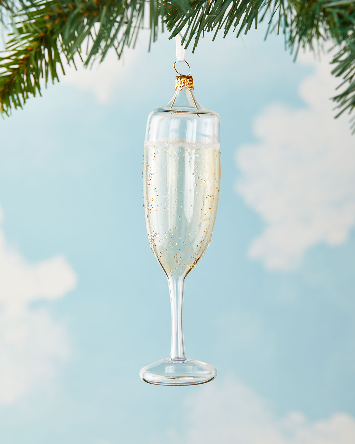 Exclusive Champagne Glass Christmas Ornament