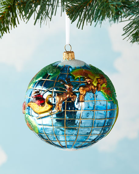 Image 2 of 3: Exclusive Santa's Journey Around the Globe Ornament