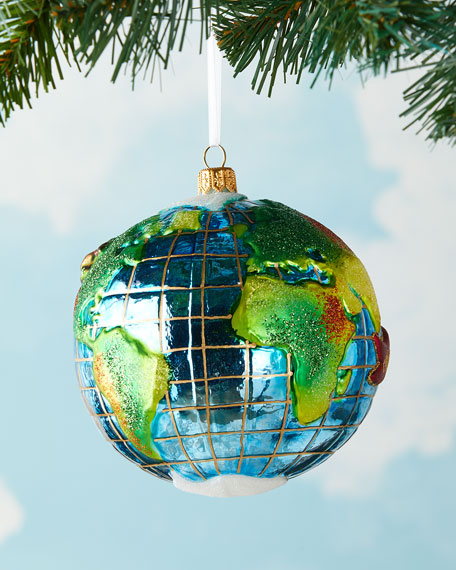 Image 3 of 3: Exclusive Santa's Journey Around the Globe Ornament