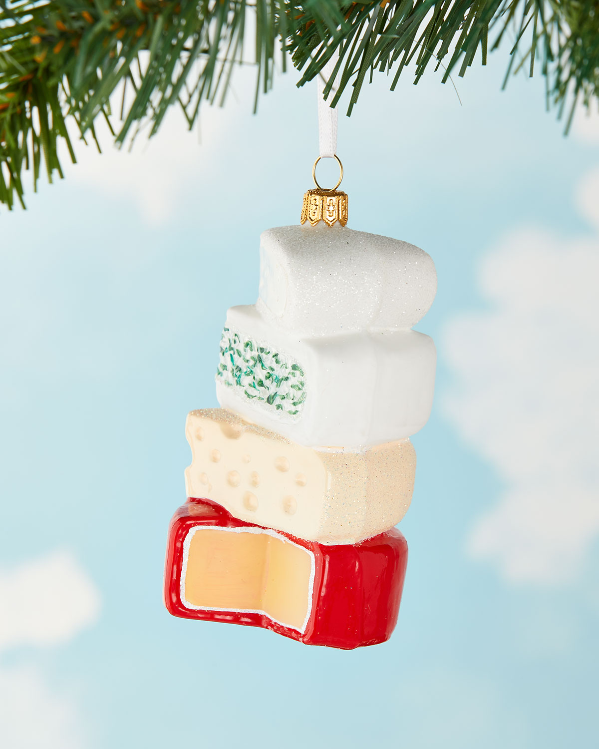 Exclusive Cheese Stack Christmas Ornament