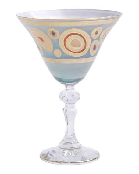 Vietri Regalia Aqua Martini Glass