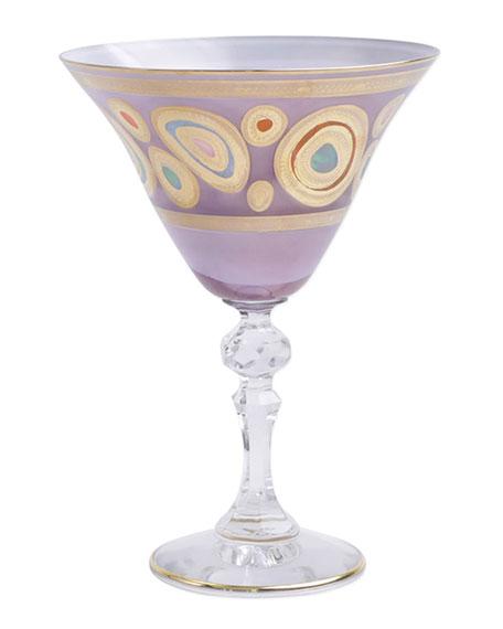Vietri Regalia Purple Martini Glass
