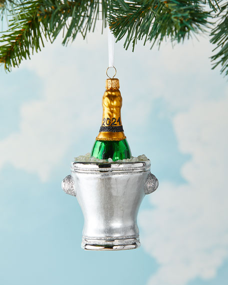 Image 2 of 2: Exclusive Champagne Bucket 2021 Christmas Ornament