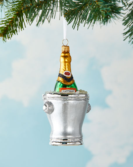 Image 1 of 2: Exclusive Champagne Bucket 2021 Christmas Ornament