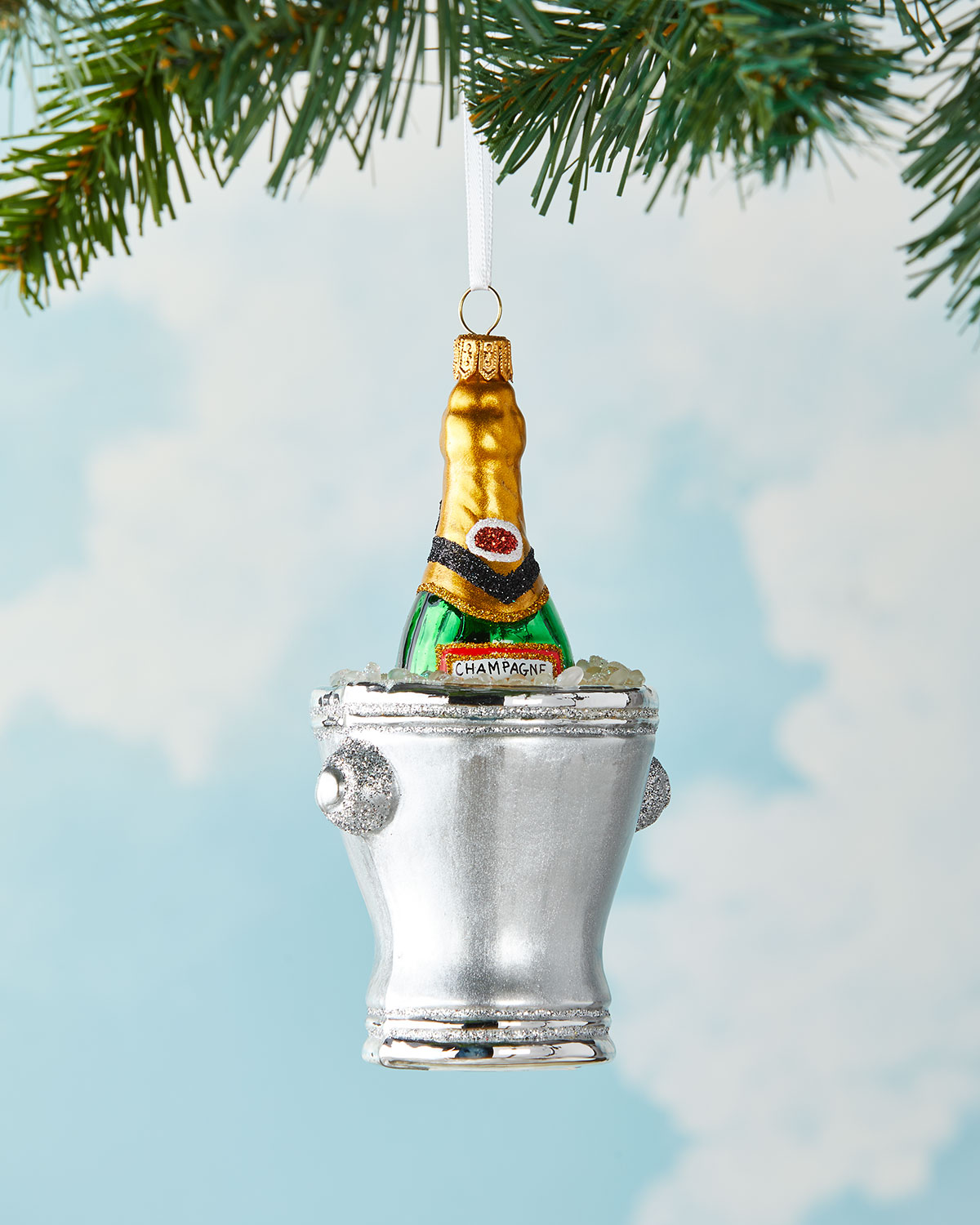 Exclusive Champagne Bucket 2021 Christmas Ornament