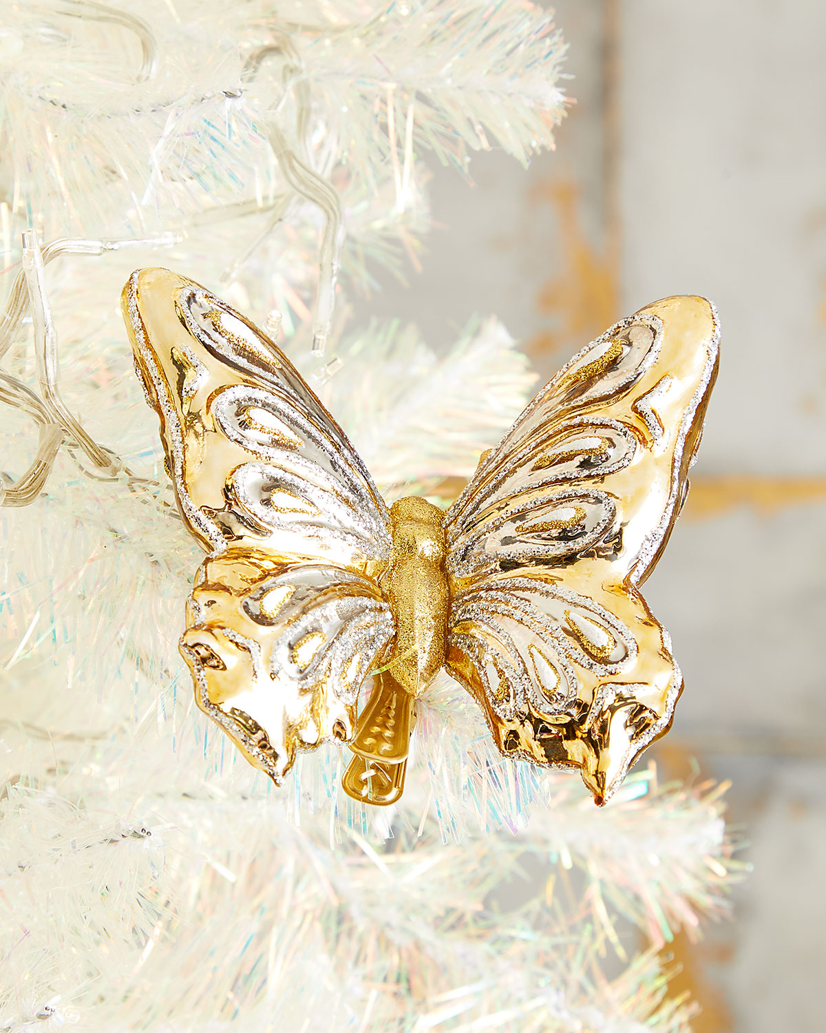 Exclusive Gold Butterfly Christmas Ornament