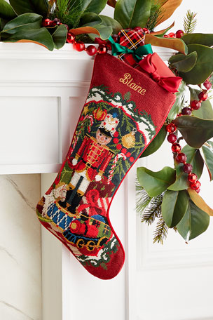 Sferra Needlepoint Toy Solider Stocking, Personalized