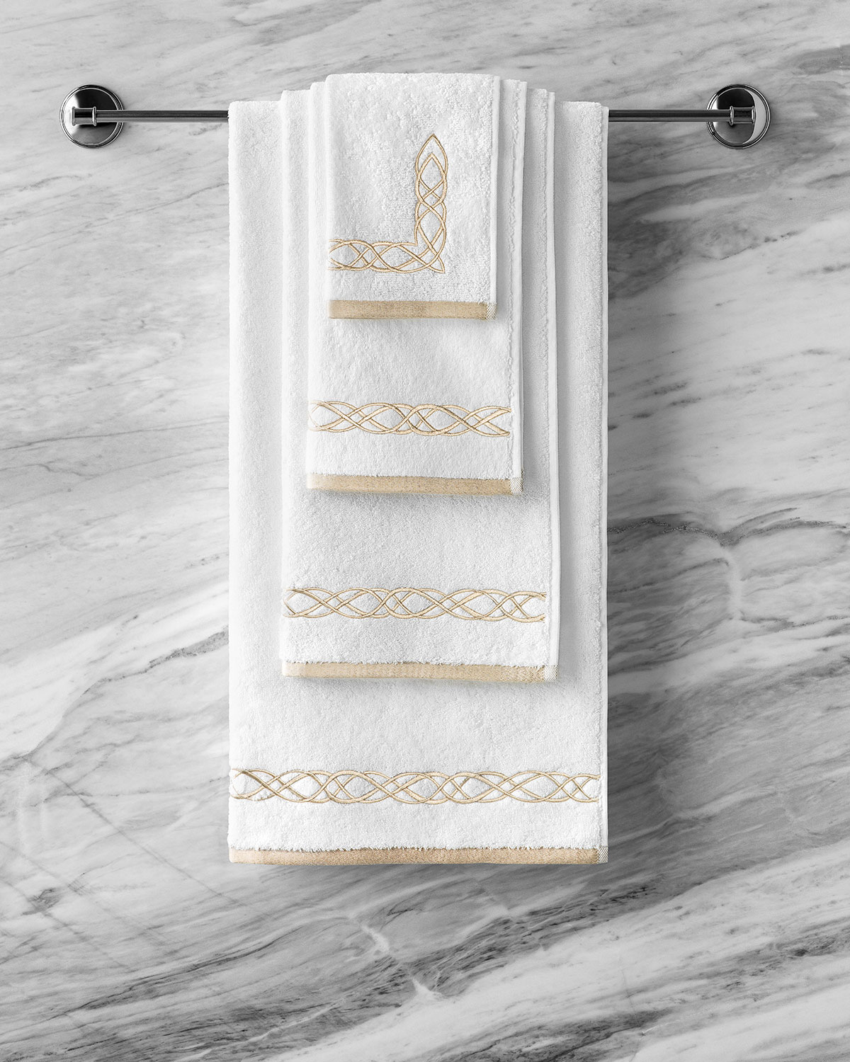 Togas Mia White/Ecru Face Towel