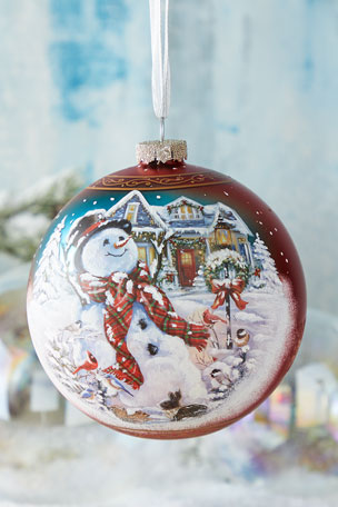 G. Debrekht An Old Fashioned Christmas, Limited Edition Glass Ball Ornament